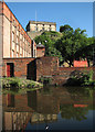 SK5639 : Nottingham Castle reflected in the canal by John Sutton