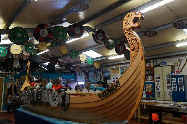 The Uyeasound Up Helly Aa galley in the galley shed