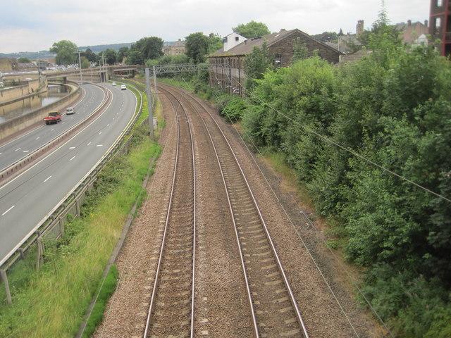 Bingley 1st railway station (site), Yorkshire