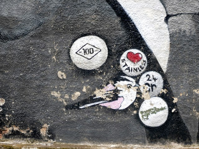 Badges on the Harry Brearley mural