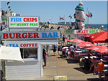 TQ3103 : Snack bar, Brighton beach by Robin Webster