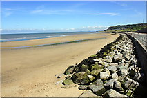 SH8678 : Beach and sea wall at Colwyn Bay by Jeff Buck