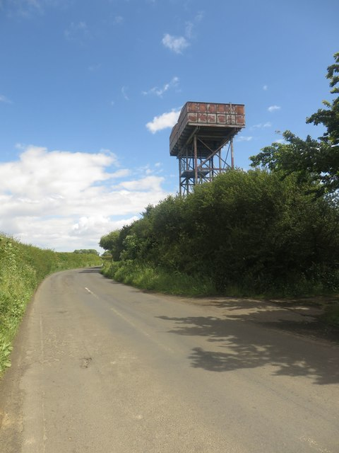 Water tower north of Well Hill