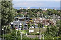 SJ8195 : Metrolink depot at Old Trafford by Richard Hoare