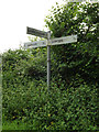 TM0080 : Roadsign on Hall Lane by Adrian Cable