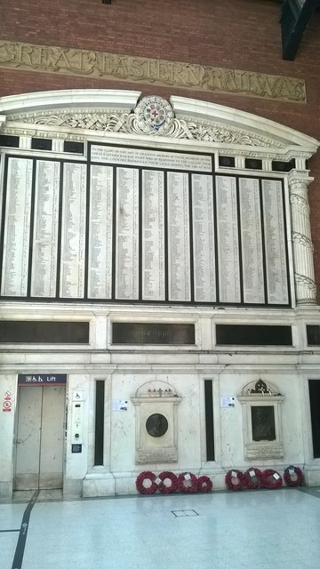 Liverpool Street station: Great Eastern Railway staff First World War memorial