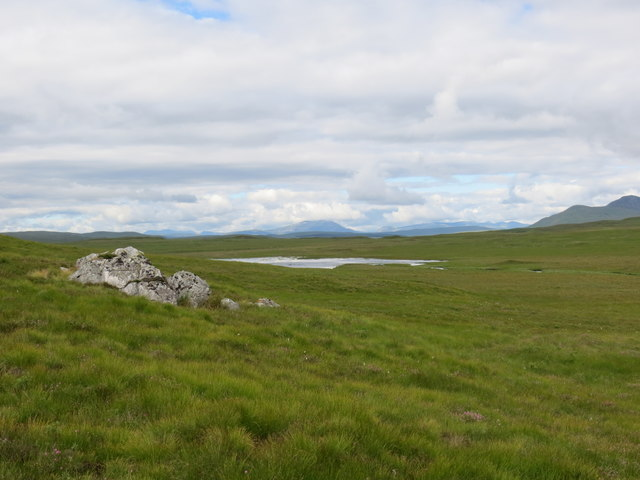 Erratics on the moor above Loch Langdale