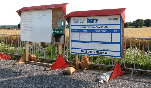 Information boards for the workers