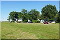 SU9357 : Chalets, Bisley Camp by Alan Hunt