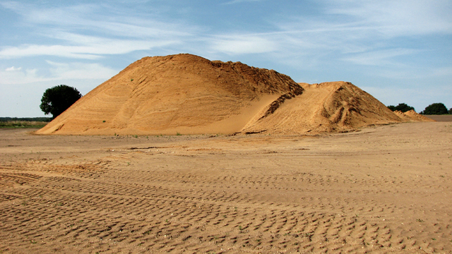 A mountain of sand