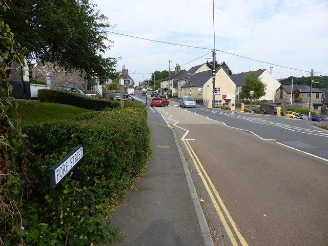 The main road through Yealmpton