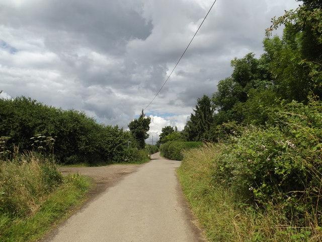 Cromer Hyde Lane, footpath & bridleway