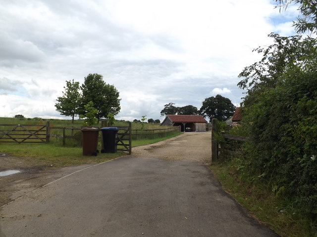 Entrance to Upper Cromer Hyde Farm