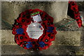 TQ4464 : Farnborough war memorial: wreaths for the centenary of the Battle of the Somme by Christopher Hilton