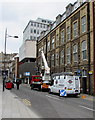 ST3188 : Sunday morning building maintenance in Corn Street, Newport by Jaggery