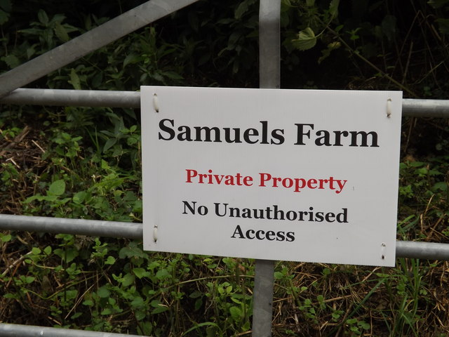 Samuels Farm sign