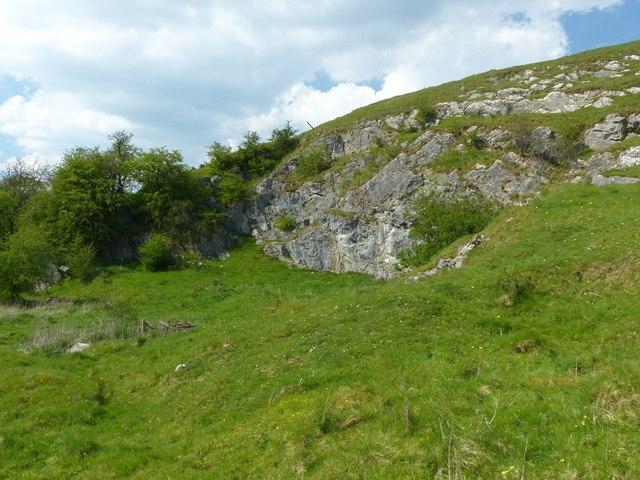 Disused quarry near Carsington