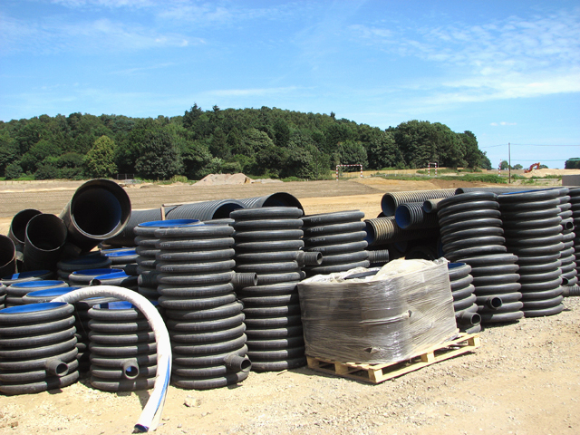 Plastic pipes ready for use