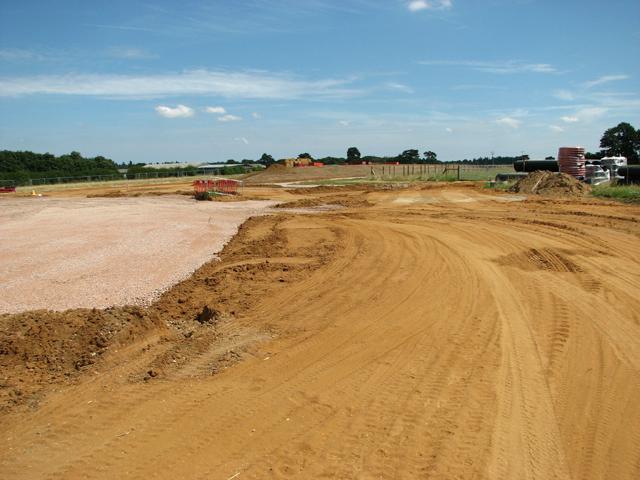 Road construction north of Taverham