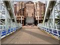 SJ8097 : Lowry Bridge and Quay West by David Dixon