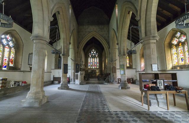 Interior, St James's church, Woolsthorpe by Belvoir