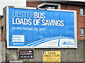 J4874 : Ulsterbus poster, Newtownards (July 2016) by Albert Bridge