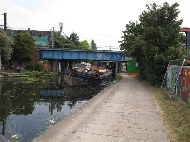 Canal bridge maintenance using barge Ruby