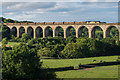 SJ2841 : Timber train on Cefn Viaduct by Ian Capper
