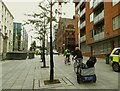 SE2934 : Leeds Skyride 2016 - bicycle trailer by Stephen Craven