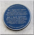SO5012 : Number 1 Agincourt Square blue plaque, Monmouth by Jaggery
