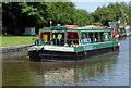 SK2928 : Broadbeam canal trip boat at Willington, Derbyshire by Roger  Kidd