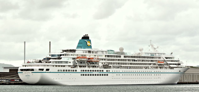 """The """"Amadea"""" at Belfast (July 2016)"""