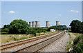 SK2928 : Railway line north of Willington, Derbyshire by Roger  Kidd