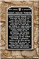 SU4210 : God's House Tower (plaque) by David Dixon
