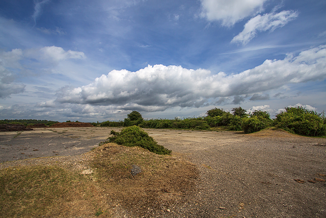 WWII Hampshire - RAF Beaulieu airfield: site of large hangar