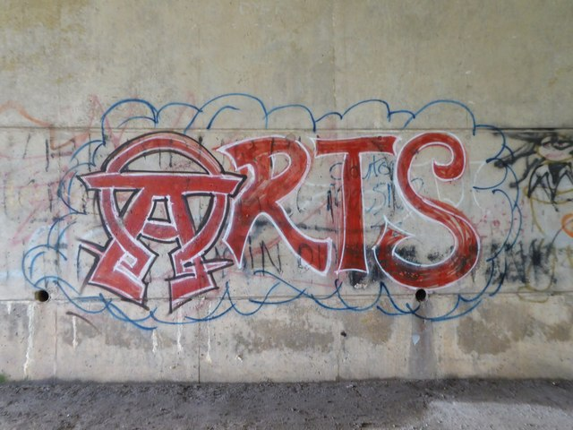 Graffiti under M6 bridge