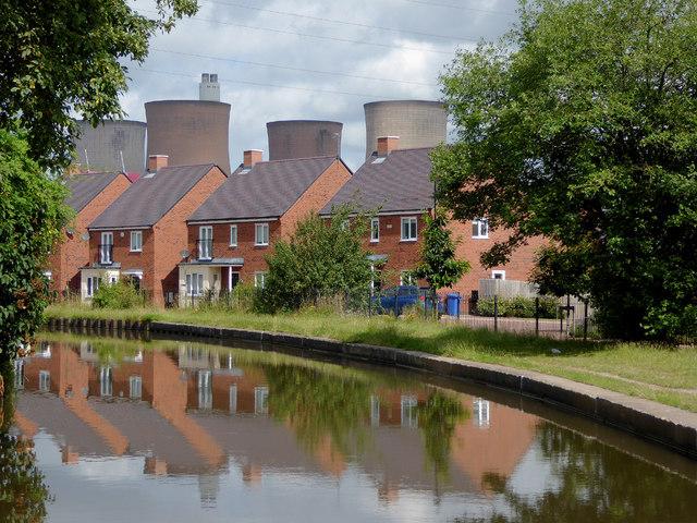 New canalside housing near Brereton, Staffordshire