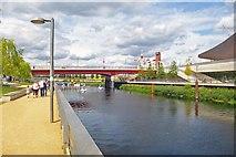 TQ3784 : Riverside walk, Queen Elizabeth Olympic Park by Julian Osley