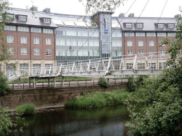 Footbridge over the river [1]