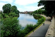 SO8454 : River Severn from outside the west end of Worcester Cathedral by Clint Mann