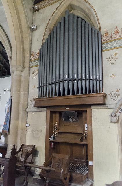 Organ, St James's church, Woolsthorpe by Belvoir