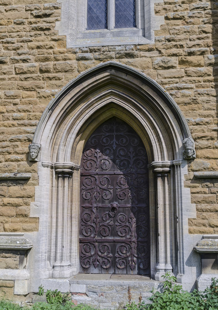West door, St James's church, Woolsthorpe by Belvoir