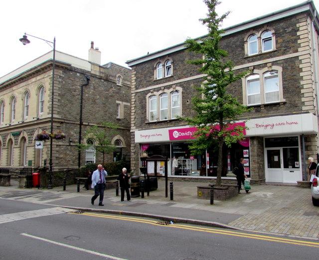 St David's Foundation Hospice Care charity shop and flats, Pontypool