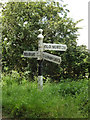 TM0379 : Roadsign on the B1113 Redgrave Road by Adrian Cable
