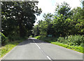 TM0378 : Entering Suffolk on the B1113 Redgrave Road by Geographer
