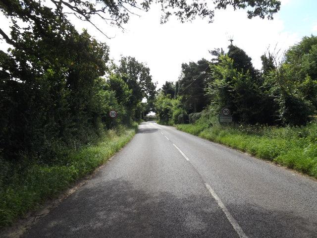 Entering Redgrave on the B1113 Redgrave Road
