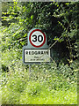 TM0378 : Redgrave Village Name sign on the B1113 Redgrave Road by Adrian Cable