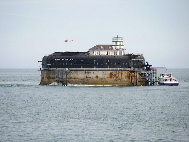 The Solent, Approaching No Man's Land Fort