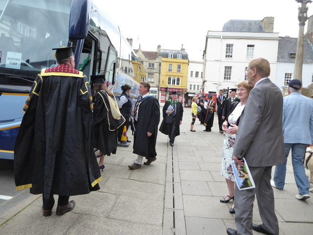 Royal Agricultural University Graduation Day outside St John the Baptist Church, Cirencester