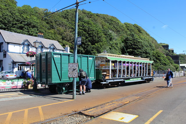 Manx Electric Railway tram number 16 and wagon